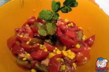 Ensalada de tomate con Maiz