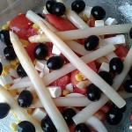 Recetas Fáciles de Ensalada de Esparragos, Tomates, Aceitunas Negras, Queso