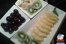 Recetas Fáciles de Frutas de Postre, Kiwi, Piña, Cerezas y Plátano