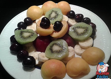 Recetas fáciles de Frutas Kiwi, Ciruelas, Plátanos, Albaricoques, Ciruelas