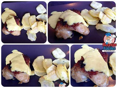 Recetas Fáciles de Pollo Braseado con Salsa de Mostaza y Miel