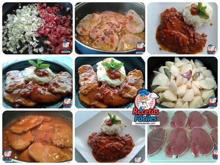 Recetas Fáciles Filetes de Lomo de Cerdo en Salsa