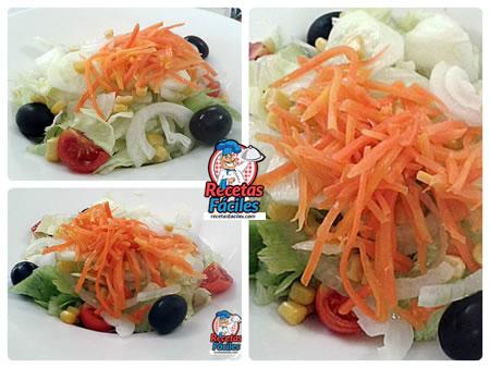 Receta de ensalada variada con zanahorias - Ensalada de zanahorias ...