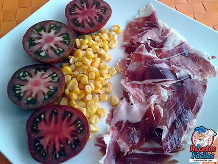 recetas fciles de jamn de jabugo con tomates ibricos