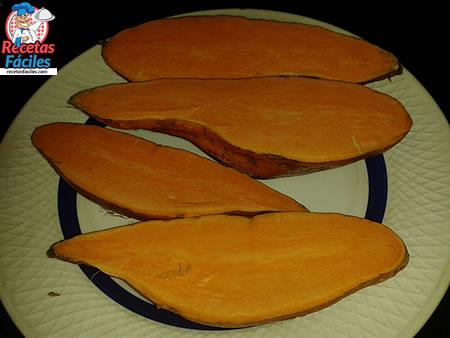 Recetas Fáciles de Batatas Asadas con Jamon de Jabugo, Queso y Membrillo