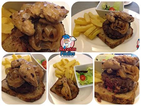 Recetas Fáciles de Hamburguesa con Cebolla Caramelizada y Foie a la Plancha