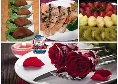 Men cena celebraci n rom ntica - Cena romantica menu casa ...