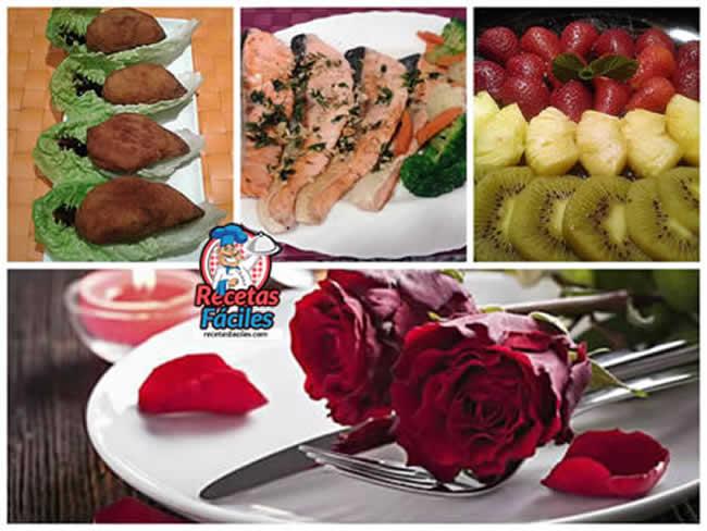 Recetas Fáciles de Menú Cena Celebración Romántica