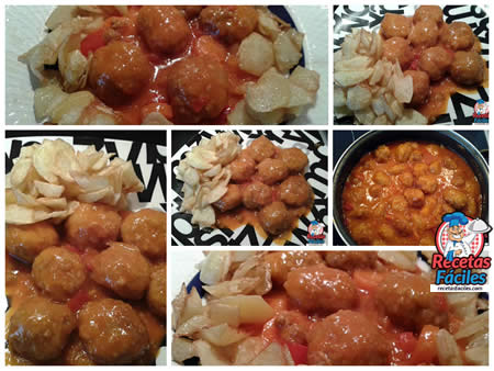 Recetas Fáciles de Albóndigas de Pollo con Tomate