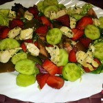 Recetas Fáciles de Ensalada Variada de Pollo con Fresas