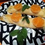 Recetas Fáciles de Crepes dulces de Pera, Mandarina y Miel