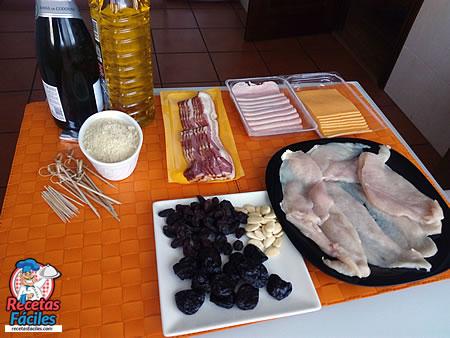 Recetas Fáciles de Pechugas de Pollo rellenas con salsa de almendras y cava