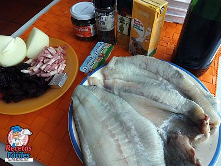Receta Fácil de Rodaballo con salsa de Vermut, Beicon y Pasas