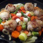 Recetas Fáciles de Guiso dePollo en Salsa con Verduras