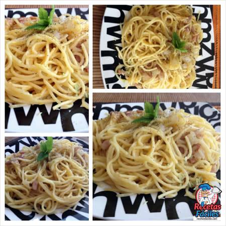 Recetas Fáciles de Espaguetis Carbonara