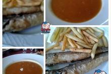 Recetas Fáciles Menu de Crema de Marisco y Pescadilla Frita