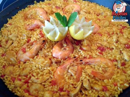 Receta De Paella De Pollo Y Marisco