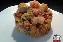 Recetas Fáciles de arroz con gambas y almejas