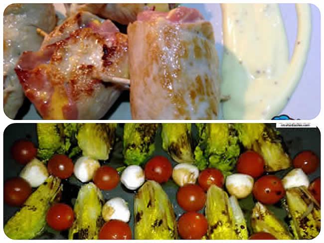 Menú Facil de Ensalada y Pollo