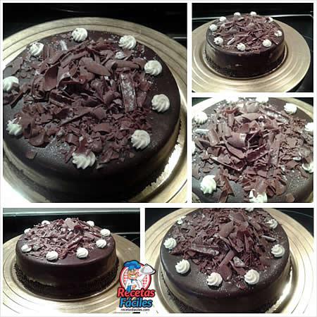 Recetas Fáciles de Tarta de Nata y Cobertura de Chocolate
