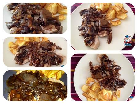 Recetas Fáciles de Filetes de Pechuga de Pollo con Cebolla Caramelizada