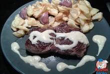 Recetas Fáciles de Entrecote de Buey Argentino con Salsa de Mostaza y Miel