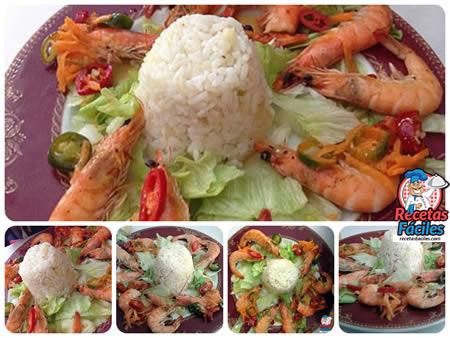 Recetas Fáciles de Langostinos Picantes con arroz