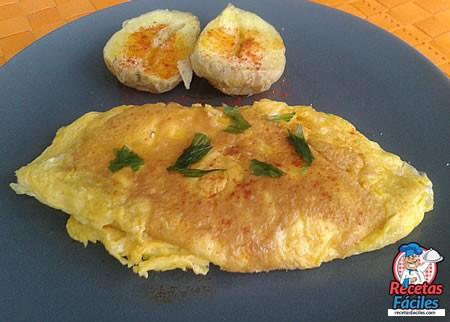 Recetas Fáciles de Tortilla Francesa de Queso y Pavo