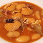 Recetas Fáciles de Judiones de la Granja con Oreja y Chorizo