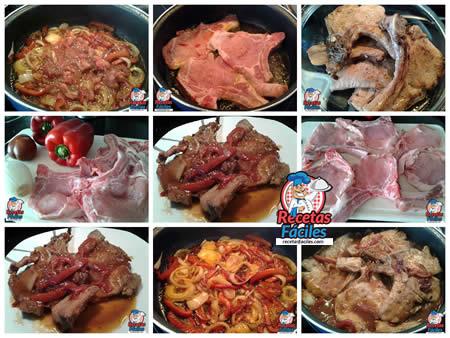 Recetas Fáciles de Chuletas de Cerdo a la Riojana