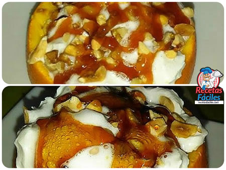 Recetas Fáciles de Postre de  Naranjas Rellenas