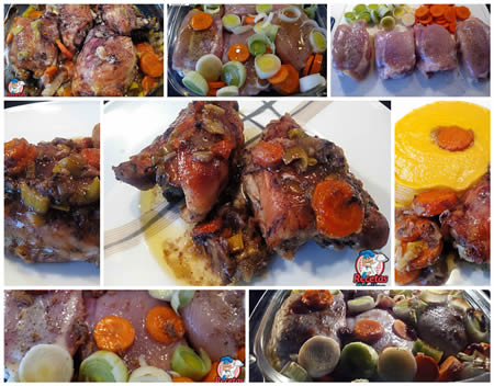 Receta Fáciles Contramuslos de Pollo Asados con Verduras