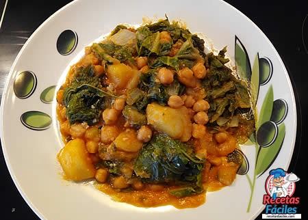 Recetas Fáciles de Acelgas con Patatas y Garbanzos
