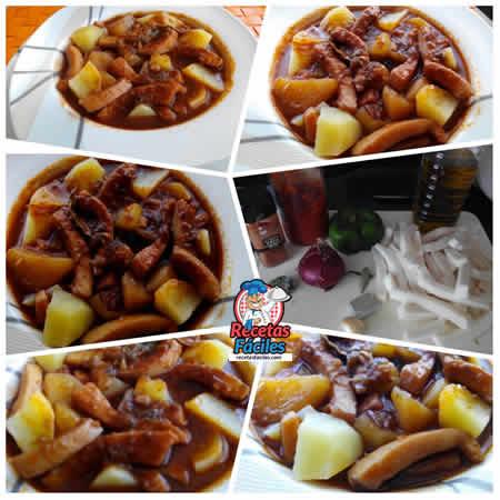 Recetas fáciles de guiso de patatas con calamar o rabas