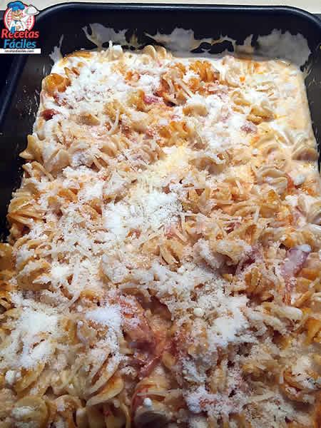 Recetas Fáciles de Espirales de Pasta Gratinadas al horno