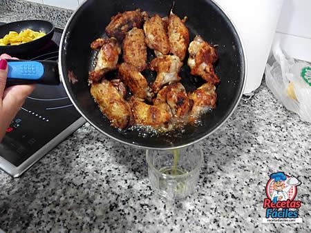 Recetas Fáciles de alitas de pollo con zumo de mandarina