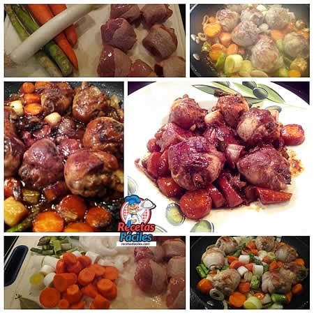 Paso a paso de la receta de pollo con verduras