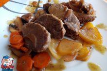 Recetas Fáciles de Solomillo de cerdo con verduras