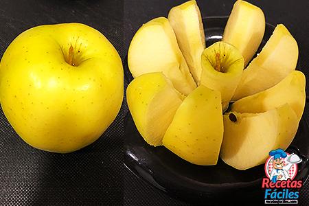 manzana en gajos