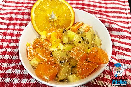 Macedonia de naranja y mandarina