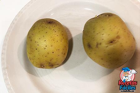 cómo asar patatas en microondas