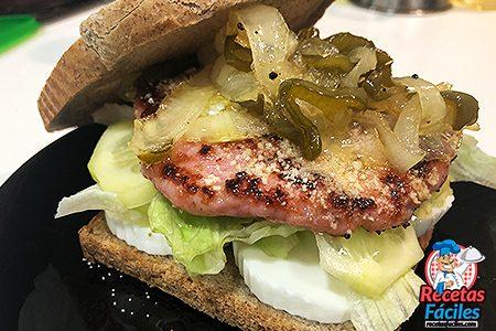 hamburguesa de pavo riquísima