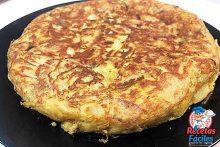 tortilla de patatas con pimiento